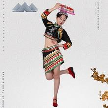 Laos Thailand YunNan Dai Nationality Dance Costume China ethnic minority Outfit Dai Traditional Suits Hat + Top Jacket + Skirt наклейки dai
