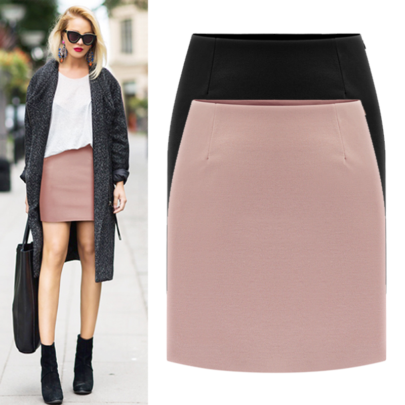 ⑦2017 frühling Grundlegende Kurzen Mini Röcke Anpassen frauen ...