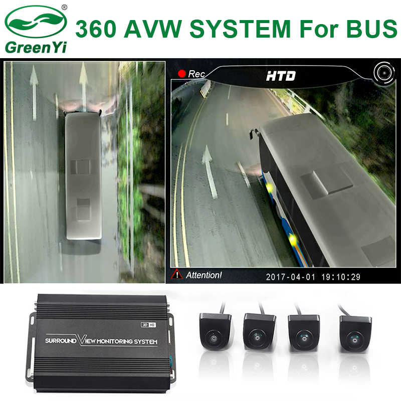 Greenyi Video-Recorder Fish-Eye Car-Rear-Cameras 4-Ultra-Wide Waterproof For Truck Bus