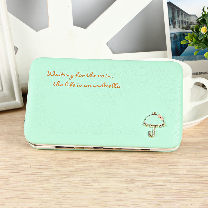 PU Leather Long Wallets Letter Women Wallets Portable Casual Lady Cash Purse Card Holder Gift Case Phone Carteiras Femininas
