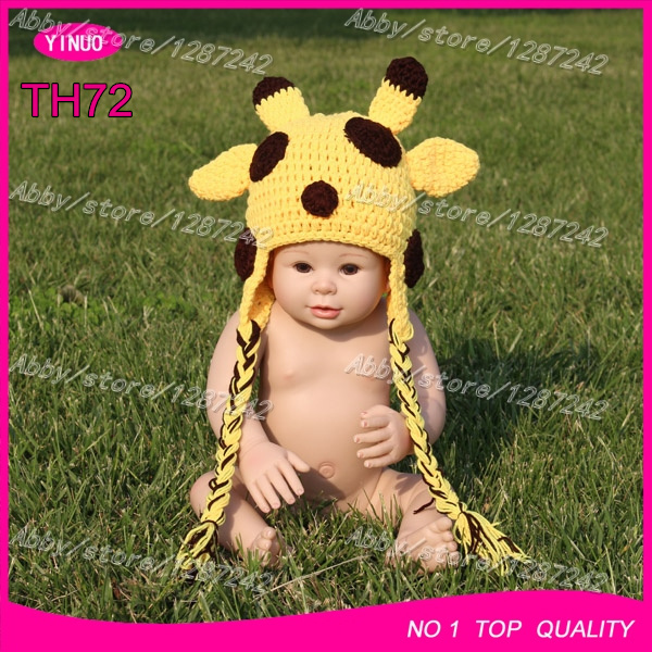 Free shipping by EMS 5pcs lot Handmade kids crochet hats baby winter hats  with braids 2f7c06a91ac