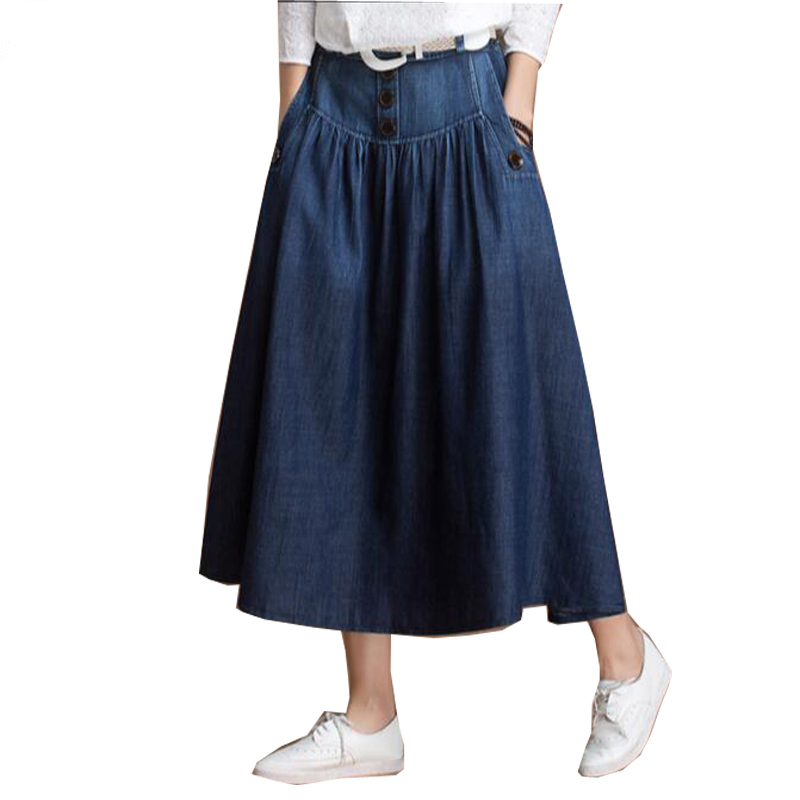 Jean Skirts Knee Length Promotion-Shop for Promotional Jean Skirts ...
