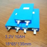 4pcs 3.2v liFepo4 battery 10Ah rechargeable li polymer cell for 12V 10A battery pack e-bike UPS Power convertor HID solar light