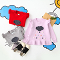 Baby Knitted Kids Pullover O-Neck Collar Sweaters Autumn Spring Children Clothes Cloud Rain Pattern Girls Clothing 5pcs/LOT