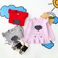 Bebé de Punto Niños Suéter Del O-cuello Suéteres de Cuello Otoño Primavera Ropa Niños Ropa Muchachas del Patrón Nube De Lluvia 5 unids/lote