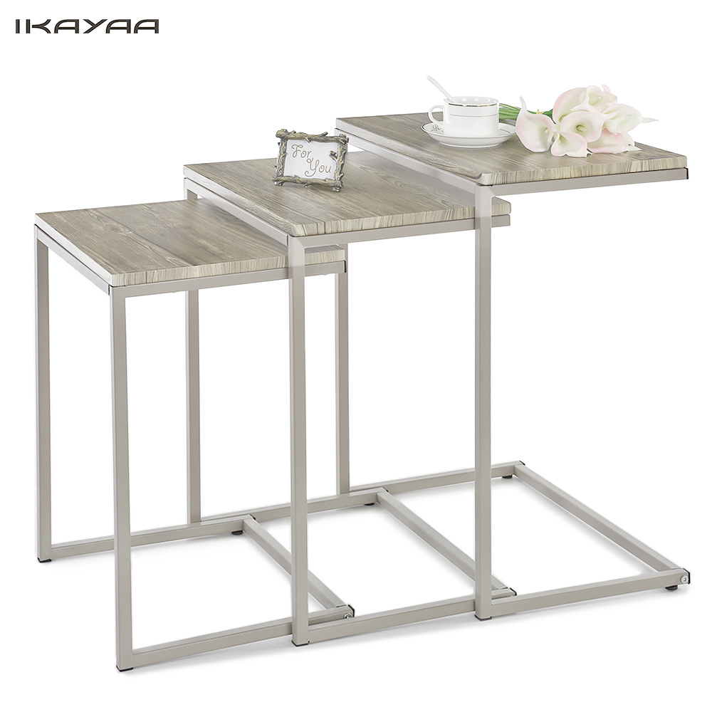 Coffee tables 3pcs metal tables set sofa couch living room - Metal side tables for living room ...