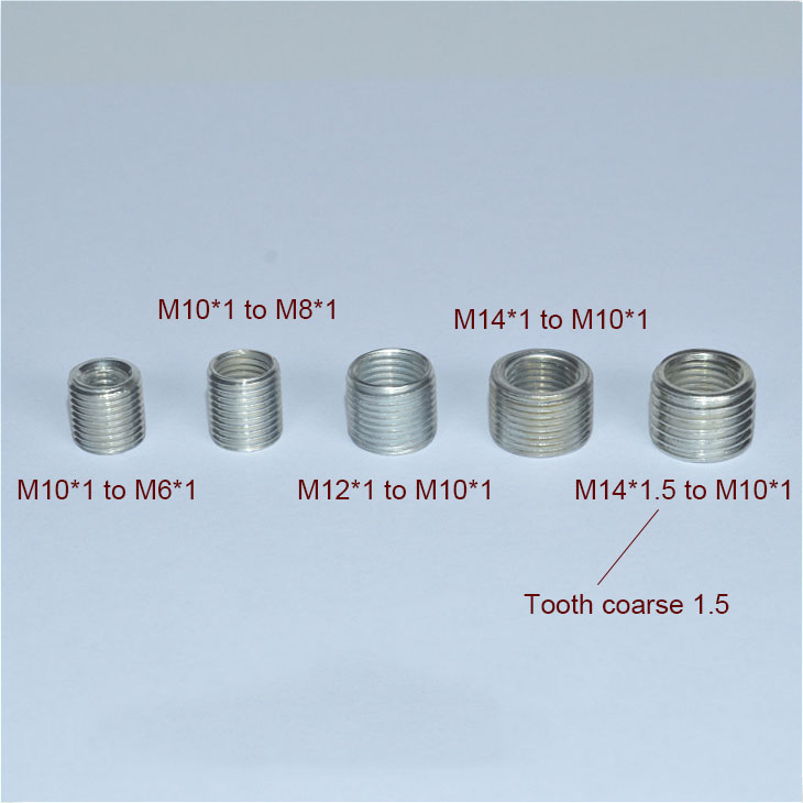5PCS  M6 To M10, M8 To M10, M10 To M14 Threaded Hollow Tube Adapter Inner Outer Threaded Coupler Conveyer Adapter