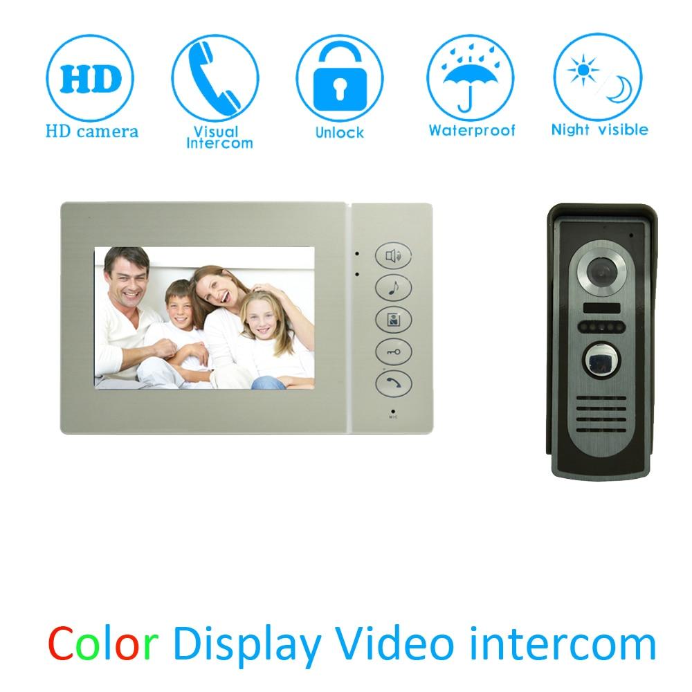 (1 Set) 4.3 Video Door Phone LCD Colorful Screen Monitor Waterproof Outdoor Unit Door Unlock Talkback Intercom system Access