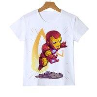 Новая модная детская футболка со средними пальцами, футболка с супергероем, супергероем, Железным человеком, Суперменом для мальчиков и девочек, детская футболка, Z36-4