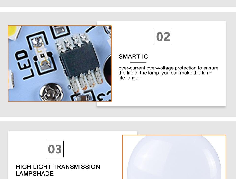 LED PIR Sensor Bulb E27 15W AC 220V 110V Dusk To Dawn Light Bulb Day Night Light Motion Sensor Lamp For Home Garage Lighting (10)