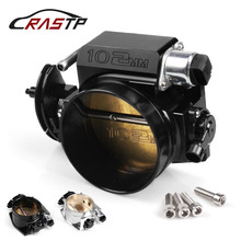 RASTP - Performance Billet Aluminum High Flow Intake Manifold 102mm Throttle Body For LS1 LS2 LS3 LS6 LSX Black/Silver RS-THB001