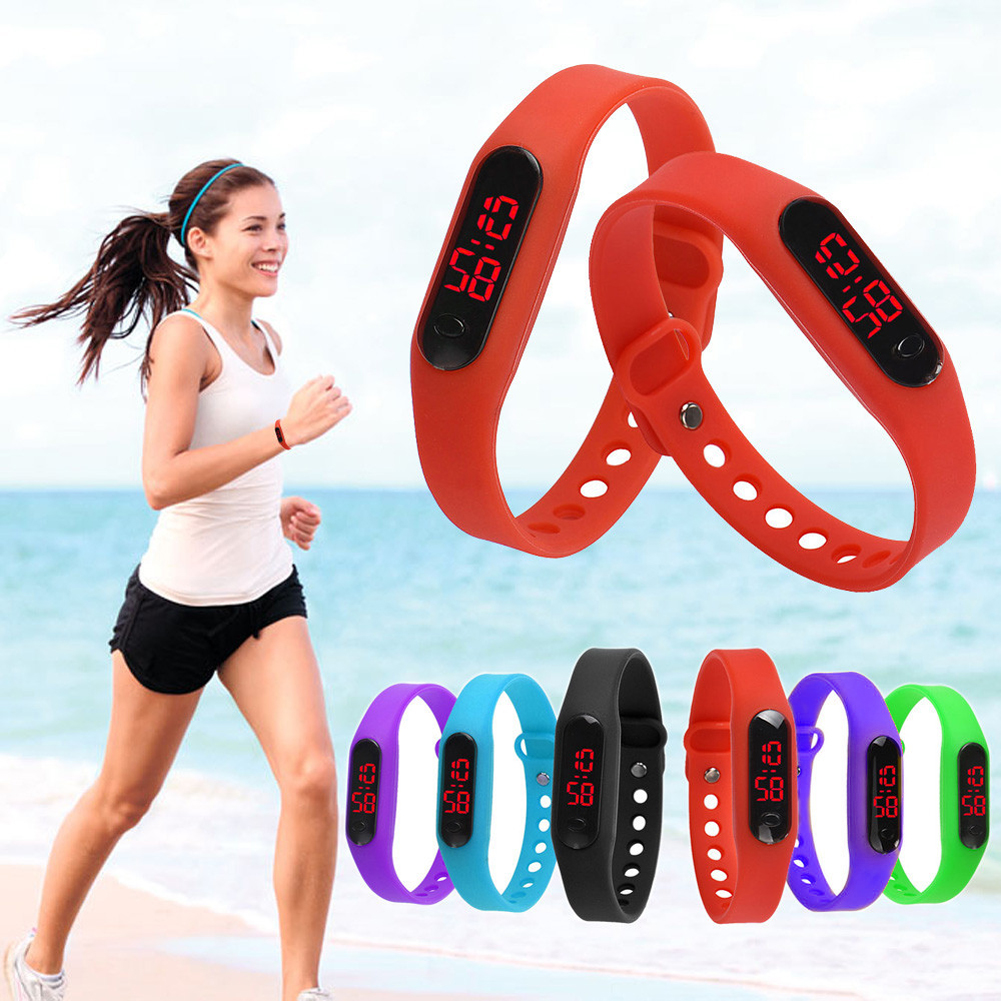 Casual Luxury LED Watch Silicone Rubber Ladies Watches Men Sports Bracelet Brand Women's Digital Wrist Watches nueva girl sports digital bracelet men s women s silicone red led sports bracelet touch watch digital wrist watch