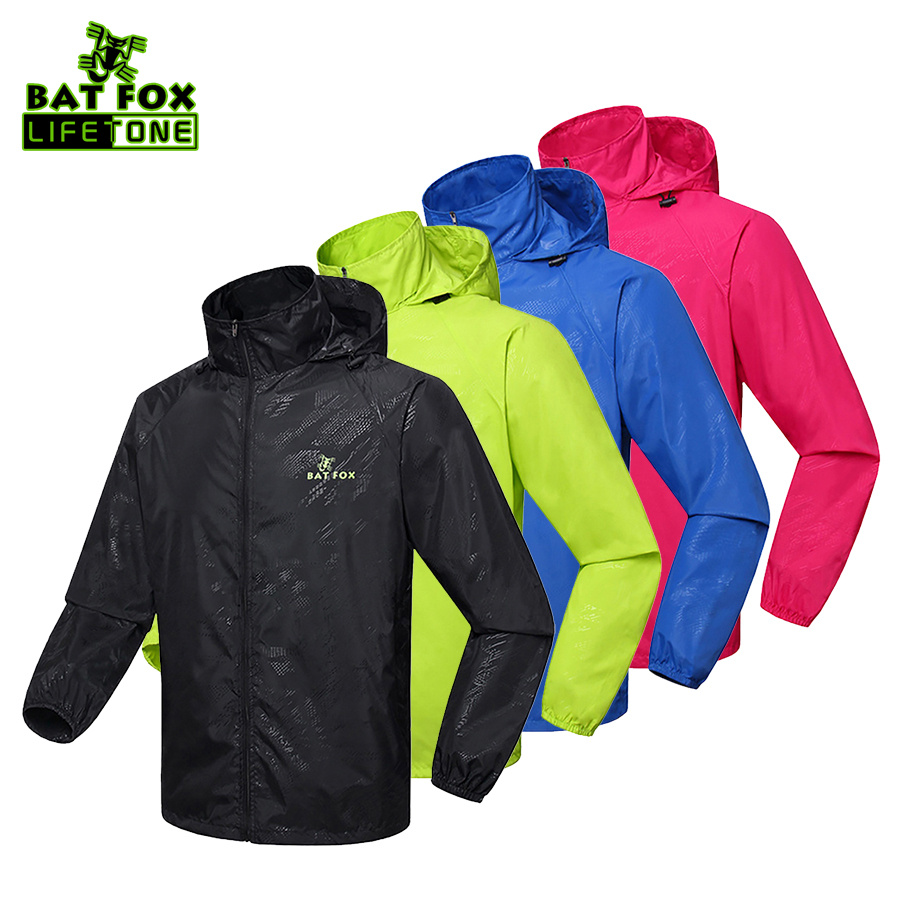 BATFOX <font><b>Men</b></font> Women Bike Raincoat Windproof Waterproof Cycling Jacket Bike Bicycle Cycling Clothes MTB Sports Cycling Jersey Jacket