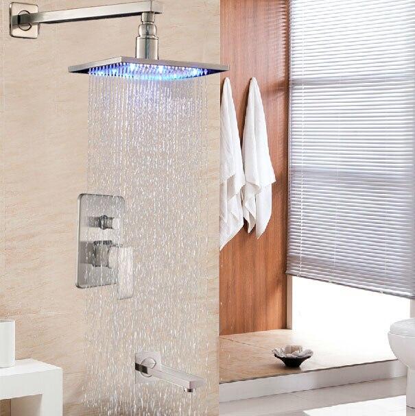 Popular Brushed Nickel ColorBuy Cheap Brushed Nickel Color Lots - Brushed nickel tub shower faucet set