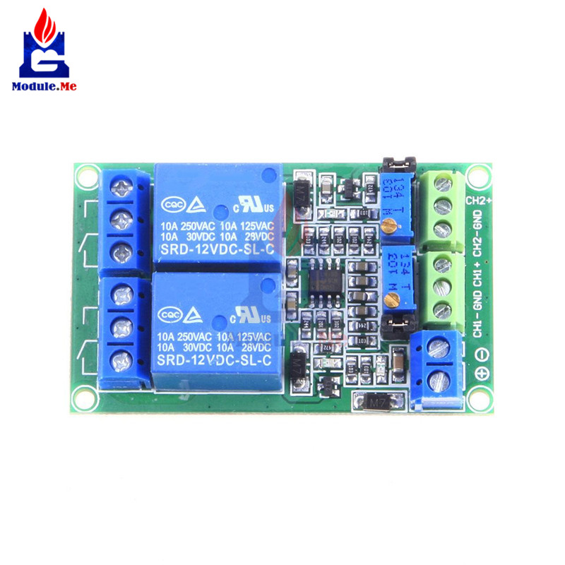 Unique DC 12V 2Channel Voltage Comparator Precise LM393 Module