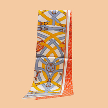 Hua Jun    Summer new color brand scarf double-sided printing long towel 100% silk twill width ribbon
