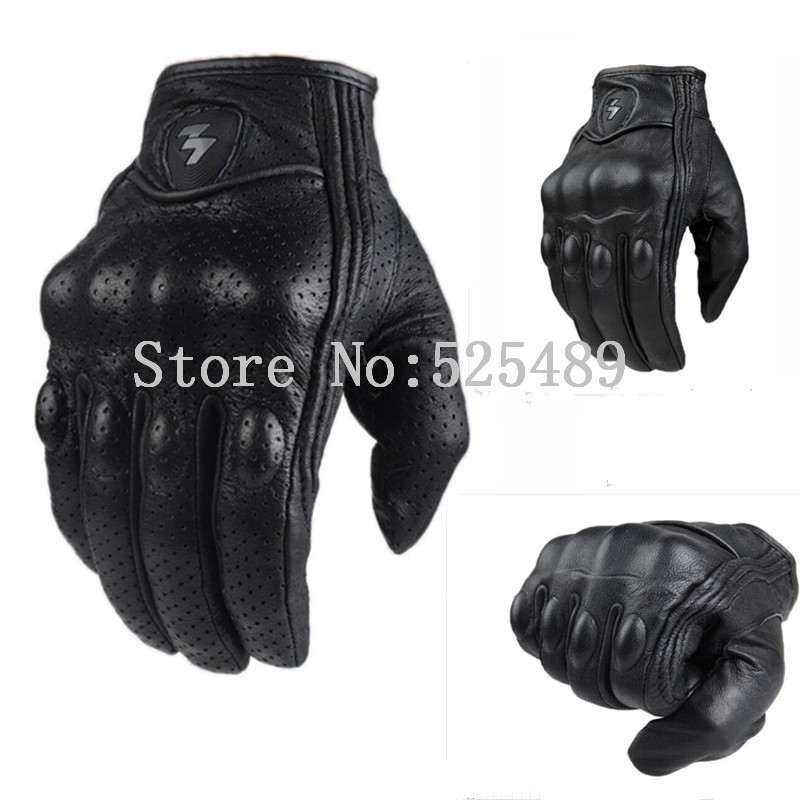 2016 Brand Genuine Leather Touch Screen Motorcycle Gloves motocross off road Protective Gear Gloves Moto Outdoors