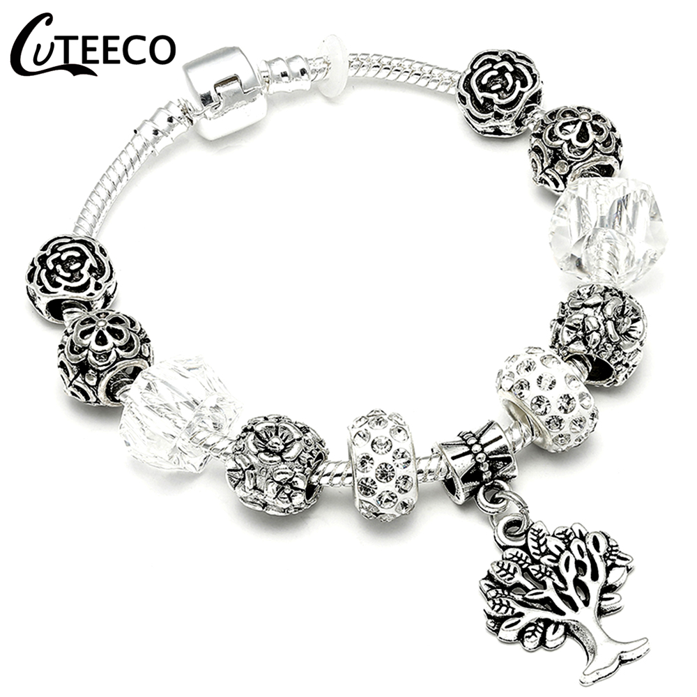 HTB1BNjAX2fsK1RjSszbq6AqBXXaZ - CUTEECO Antique Silver Color Bracelets & Bangles For Women Crystal Flower Fairy Bead Charm Bracelet Jewellery Pulseras Mujer