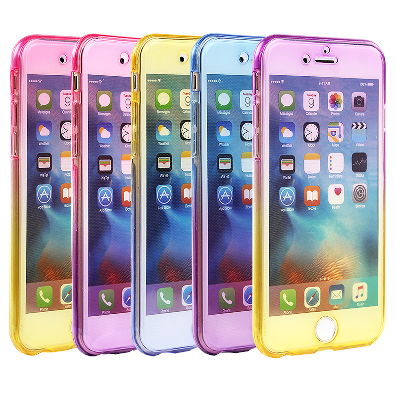 360 Degree Gradient Color Soft Clear TPU Silicone Case