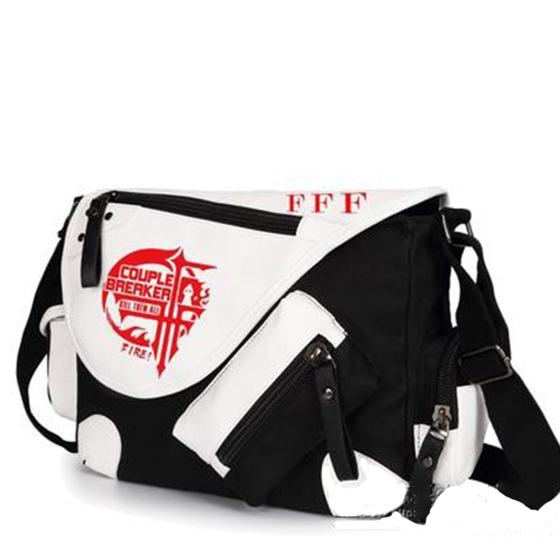 Anime Cosplay FFF Mihnah Messenger Bag High Quality Patent Leather Canvas Boys Girls Travel Crossbody Shoulder