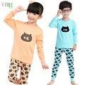 V-tree inverno meninas outono pijamas de manga longa meninos sleepwear pijama de algodão crianças asseclas desenhos animados crianças pajama sets para 2-12y