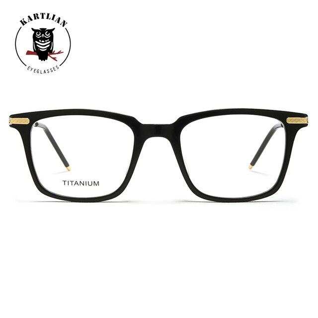 59bed780e7 Kartlian Titanium acetate retro square frame men women glasses optical  frame eyewear eyeglasses prescription lenses spectacles