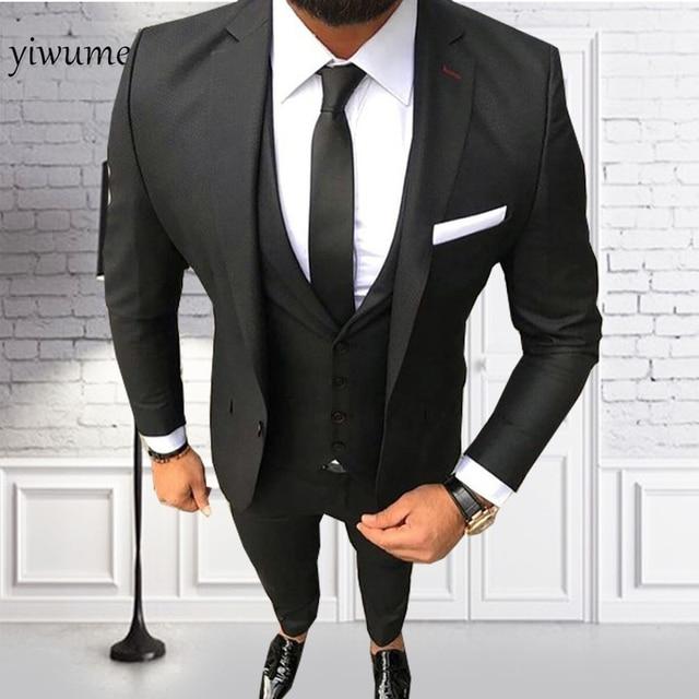 fa0b38ea3fab Yiwumensa мужской костюм 2018 мужской костюм Нарядные Костюмы для свадьбы  для мужчин узкие плоские S костюмы