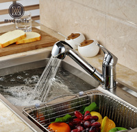 Luxury Pull Out Kitchen Faucet Deck Mount Kitchen Water Taps With Hot And Cold Water Single