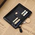 DreamShining dos homens PU Carteiras de Couro Estilo de Negócio Simples Saco de Moeda Pacote Curto Zipper Carteira Carteira Bolsa Cartão Do Vintage
