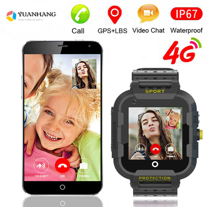 2019 Remote Camera Monitor GPS WIFI Tracker Location Kid Child Student 4G Phone Smart Wristwatch SOS Video Call Android 6 Watch