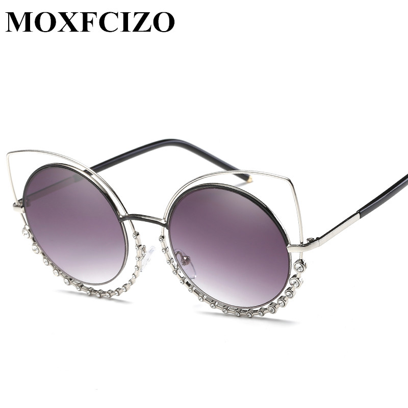 Personality Fashion Women Cat Eye Sunglasses Brand Design Luxury Set auger Sun Glasses Women Sunglasses Shades Eyewear Oculos
