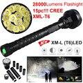 Высокое Качество 28000LM 15x XML T6 LED Фонарик 5 Режимов Фонарик 26650/18650 Кемпинг Свет Лампы