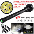 High Quality  28000LM 15x XML T6 LED Flashlight 5 Modes Torch 26650/18650 Camping Lamp Light