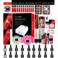 Nail Gel Polish Tools Pro 36W UV GEL White Lamp with 16 Color Nail Art Kits manicure set Fashion top base coat