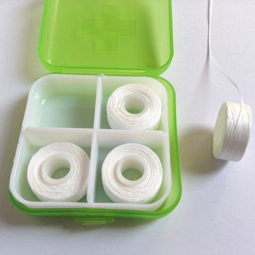 4 шт./кор. Высокое качество замена плоским катушку PTFE зубная нить Вощеная мятный вкус зубной провода