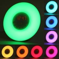 Yam 새로운 일출 시뮬레이션 디지털 알람 시계 15 따뜻한 흰색 led와 15 다채로운 led와 빛 fm 라디오 터치 컨트롤 일어나