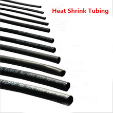 1Meter 2:1 Black Polyolefin Heat Shrink Tubing  Shrinking Assorted Tube Wire Cable Insulated Sleeving