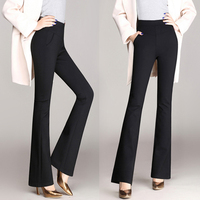 Plus Size Trousers Women Pants 2019 Spring Winter Casual OL Formal Wide Leg Pants Fashion Office Dress Pants Flare Trousers E226