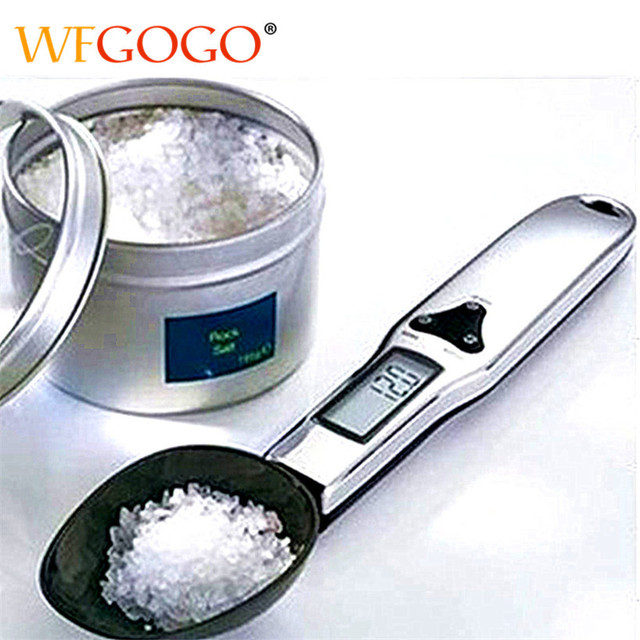300g/0.1g Portable LCD Digital Kitchen Spoon Scale