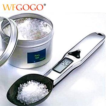 300g 0 1g przenośny wyświetlacz LCD cyfrowa kuchenna łyżka z miarką Gram elektroniczna łyżka waga Volumn waga do żywności nowy wysokiej jakości tanie i dobre opinie WFGOGO Prostokąt DIGITAL BB006-13 Wyświetlacz LED Mini Z tworzywa sztucznego Baterii Measuring Tools Kitchen Scales