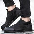 Nueva Marca de Fábrica Famosa Hombres Plana Zapatos Casuales Transpirable Slip-on Mocasines Solid Mans Calzado para Hombre Zapatillas Hombre Chaussure Homme