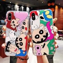 Cute Cartoon Crayon Shin-chan Soft TPU Case For iPhone XS XR XS MAX Anti-knock Case For iPhone X 6 6S 7 8 Plus Case цена и фото