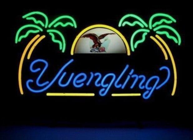 Custom Yuengling Eagle Glass Neon Light Sign Beer BarCustom Yuengling Eagle Glass Neon Light Sign Beer Bar