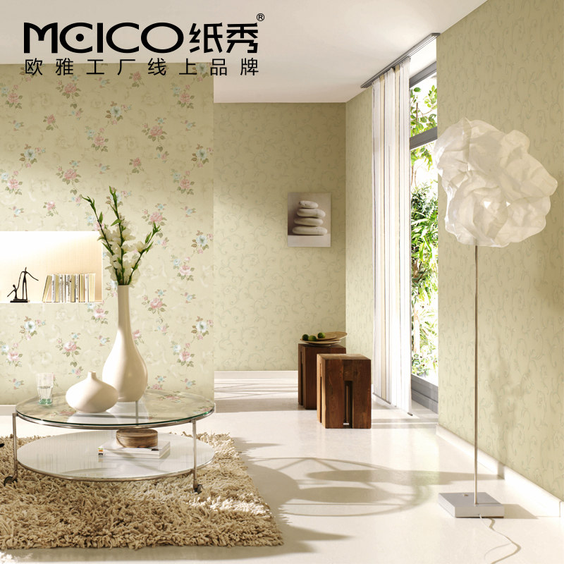 10m*53cm wall stickers wall paper Paper wallpaper fashion brief rustic wall Twining vines Stereo embossed pvc tv background wall vintage european classical tv background wood pulp paper pvc wallpaper wall stickers waterproof home decoration fashion feast