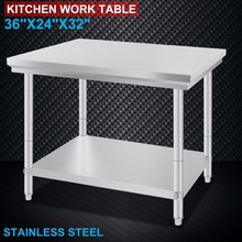Stainless Steel Commercial Kitchen Work Food Prep Table 24″x36″
