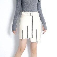 2019 New Fashion Genuine Sheep Leather Skirt E32 цена 2017