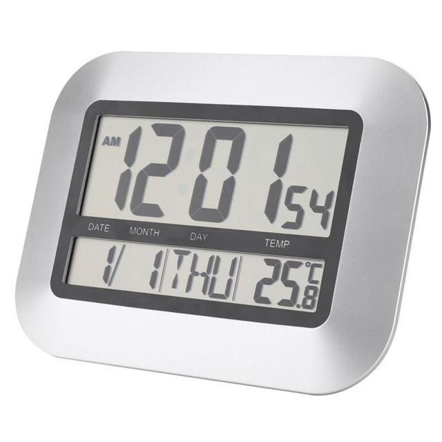 Multi Functional Thermometer LCD Digital Wall Tabletop Clock Alarm Snooze  Indoor Temperature Meter