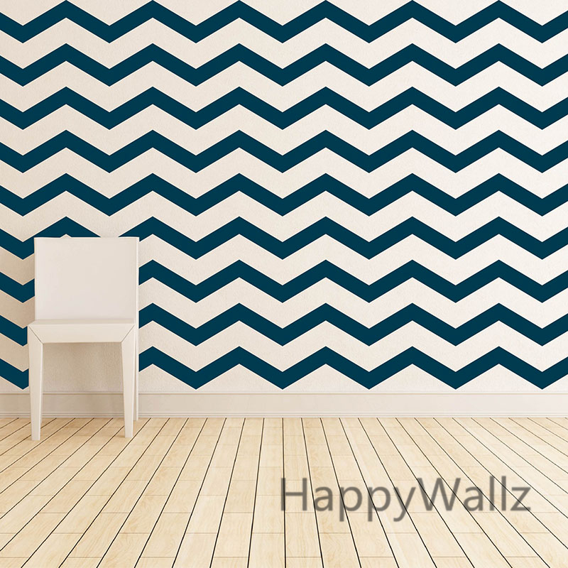 Chevron Wall Stickers DIY Chevron Stripes Wall Decal East Wall Art Removable Decors Modern Mural Wallpaper P65-in Wall Stickers from Home u0026 Garden on ...  sc 1 st  AliExpress.com & Chevron Wall Stickers DIY Chevron Stripes Wall Decal East Wall Art ...