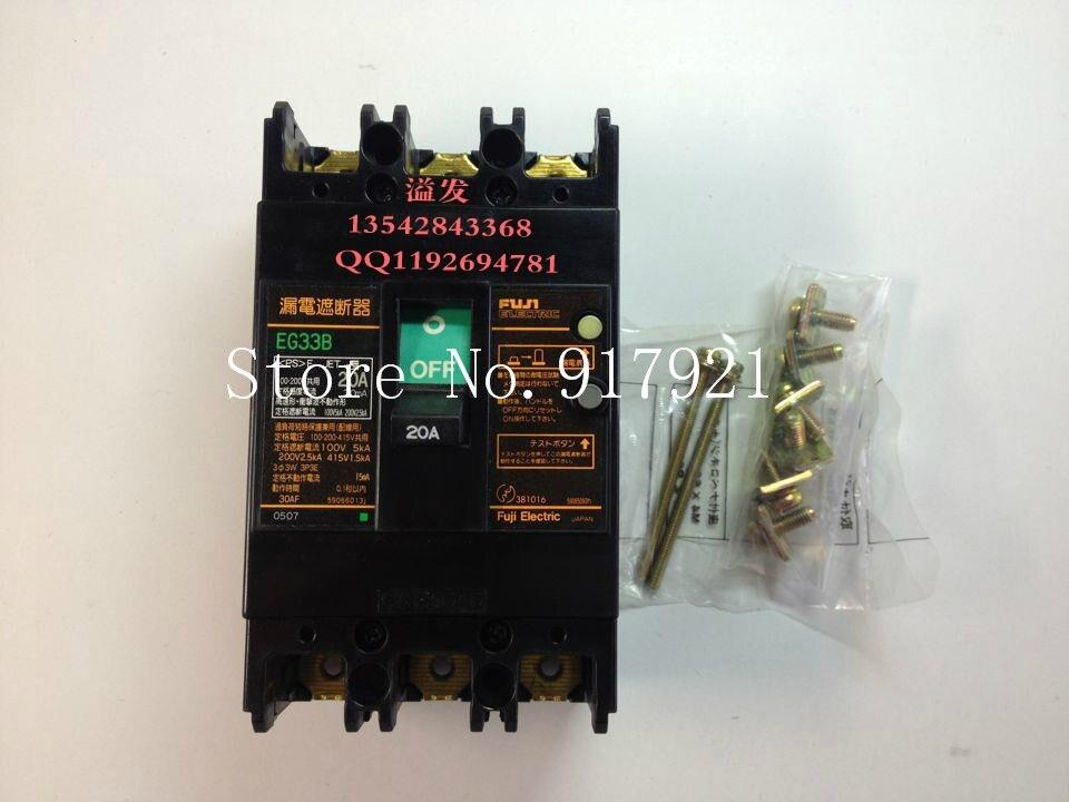 [ZOB] Fuji EG103B 3P20A leakage switch AC100-200-415V (guarantee original authentic)  --2PCS/LOT заточной станок rezer eg 200 c