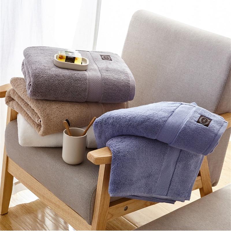 Export Top Luxury 100 Cotton Couple Bath Towels 80x160 Solid Hotel SPA Bathroom Toalla Playa Beach